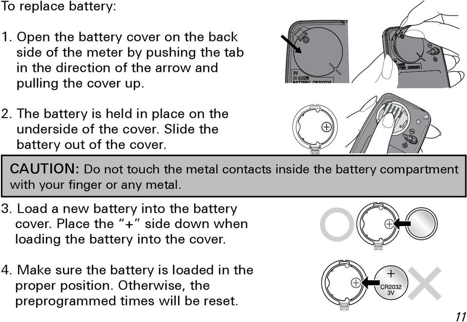 The battery is held in place on the underside of the cover. Slide the battery out of the cover.