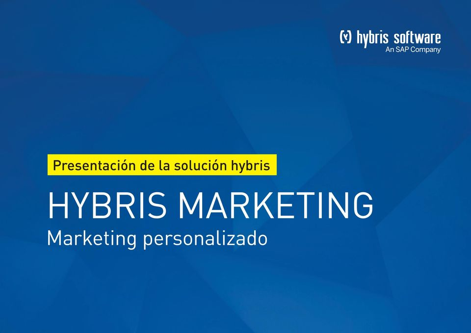HYBRIS MARKETING