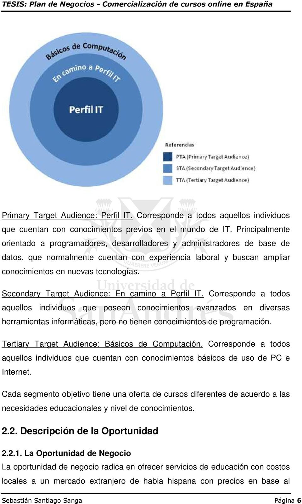 Secondary Target Audience: En camino a Perfil IT.