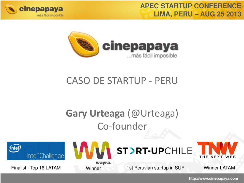 (@Urteaga) Co founder Finalist - Top 16
