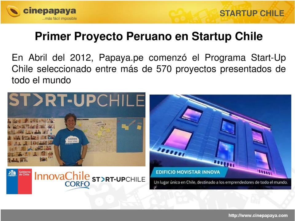 pe comenzó el Programa Start-Up Chile