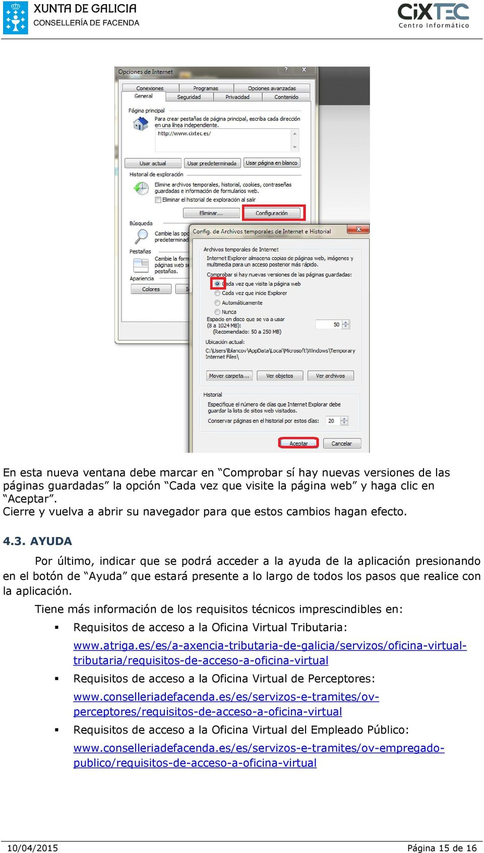 Gu a de comprobaci n de requisitos y soluci n a problemas for Oficina virtual tributaria