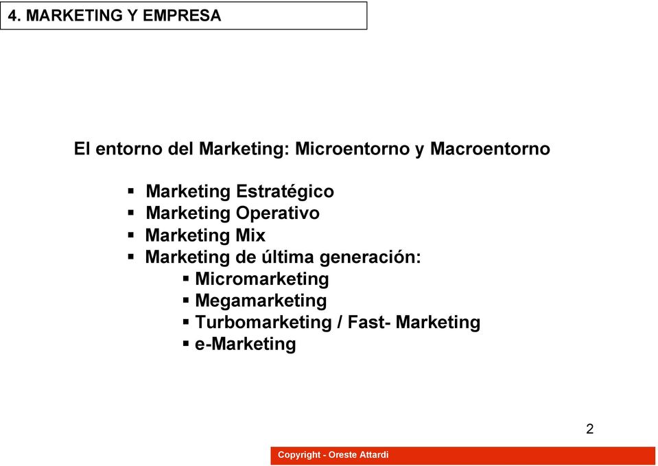 Mix Marketing de última generación: Micromarketing