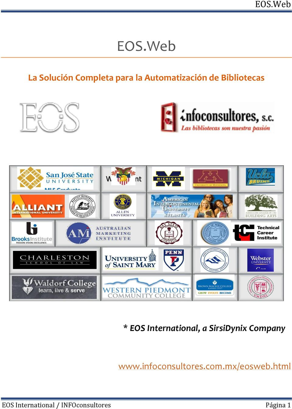 Graduate School Gen * EOS International, a SirsiDynix Company