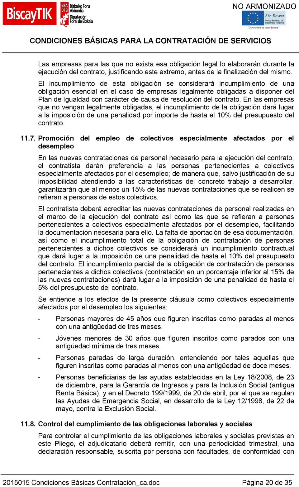 resolución del contrato.