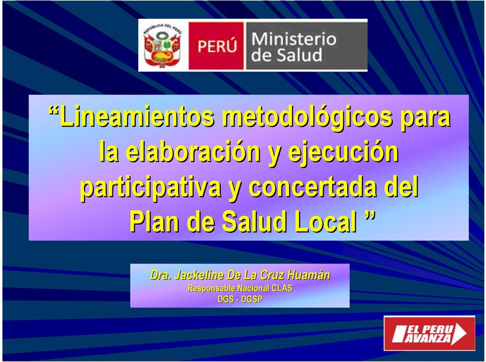 concertada del Plan de Salud Local Dra.