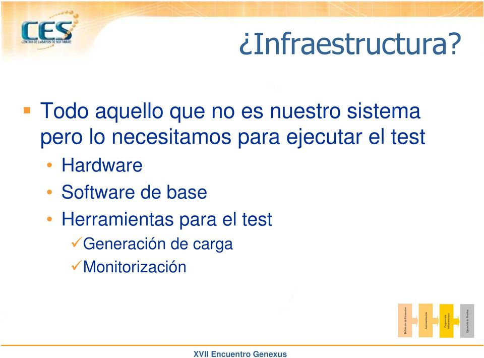 para ejecutar el test Hardware Software de base