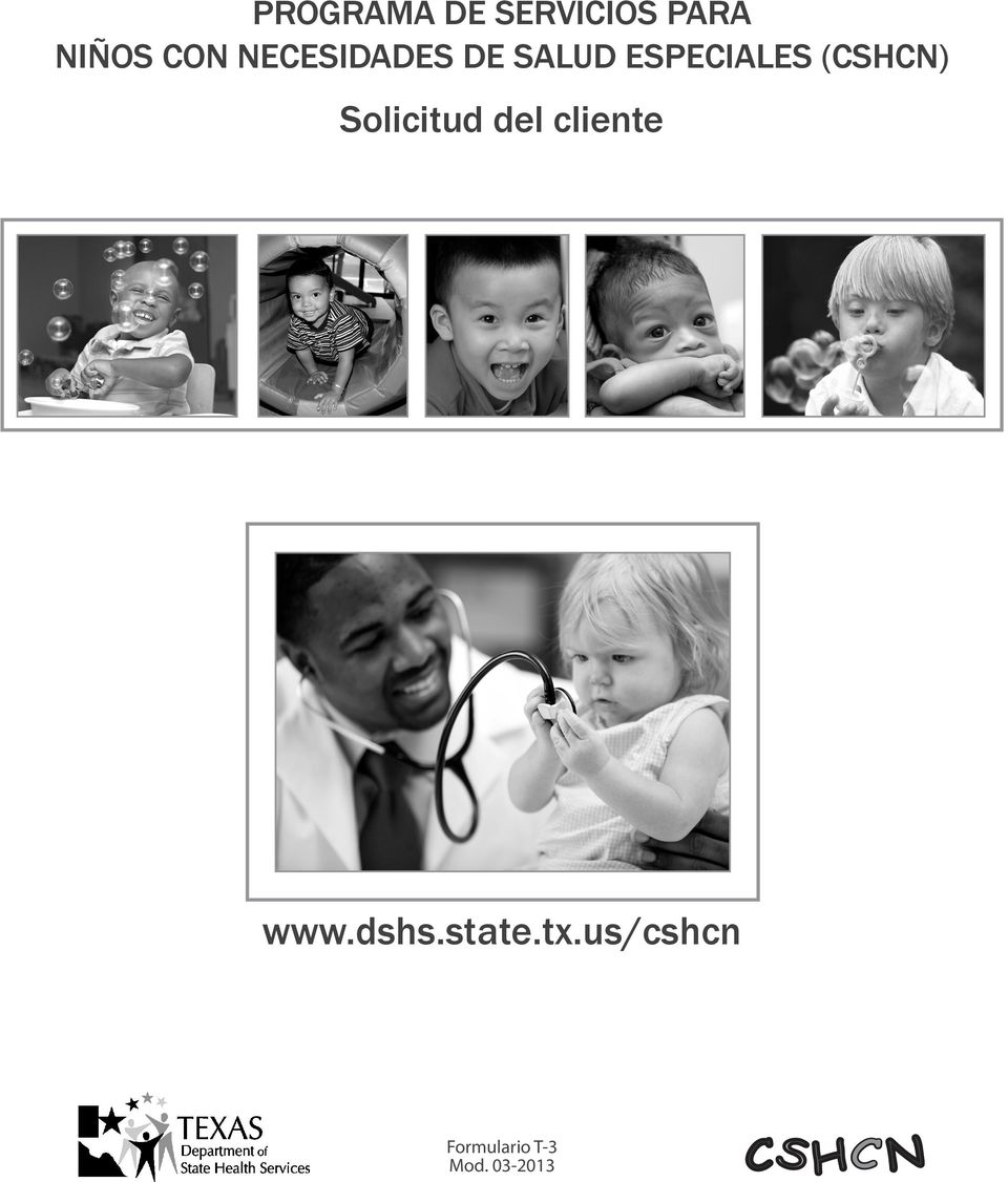 Solicitud del cliente www.dshs.state.tx.