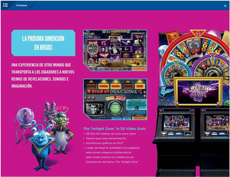 The Twilight Zone in 3D Video Slots 5R/25L/45 créditos de costo para cubrir Óptimo para baja denominación