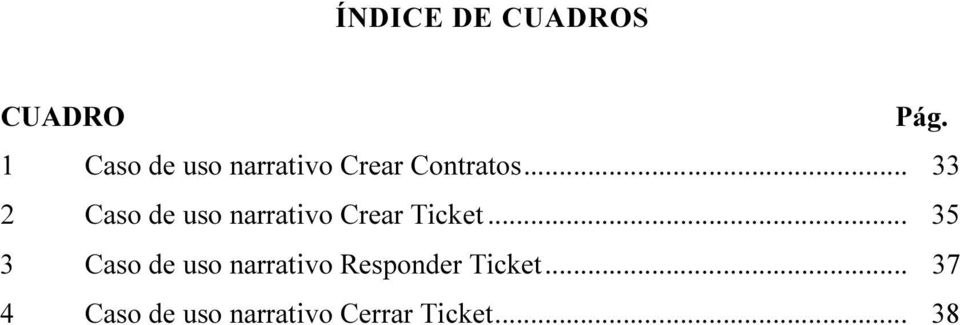 .. 33 2 Caso de uso narrativo Crear Ticket.