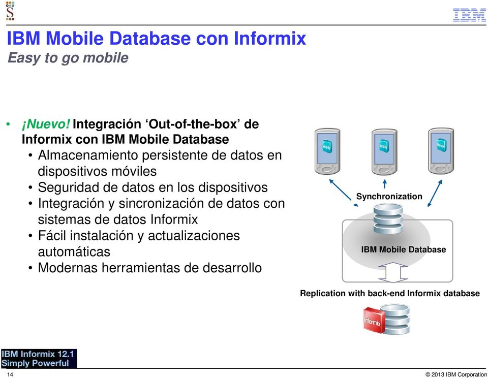 dispositivos móviles Seguridad de datos en los dispositivos Integración y sincronización de datos con sistemas de