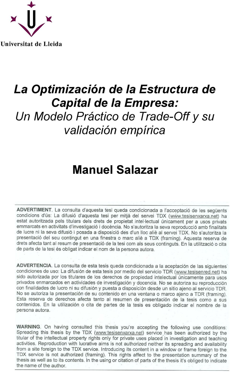 Modelo Práctico de Trade-Off y