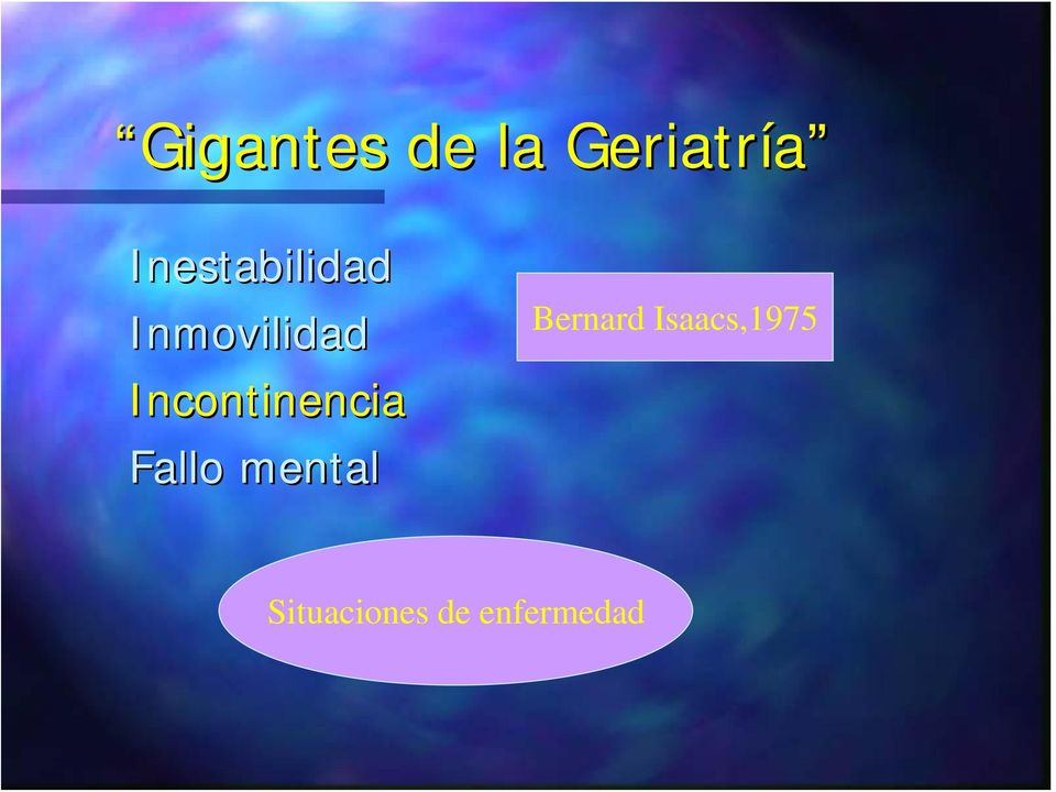 Incontinencia Fallo mental