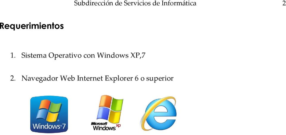 Sistema Operativo con Windows XP,7