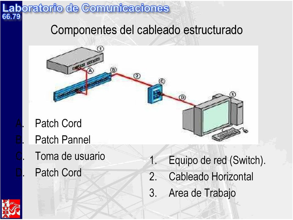 Toma de usuario D. Patch Cord 1.