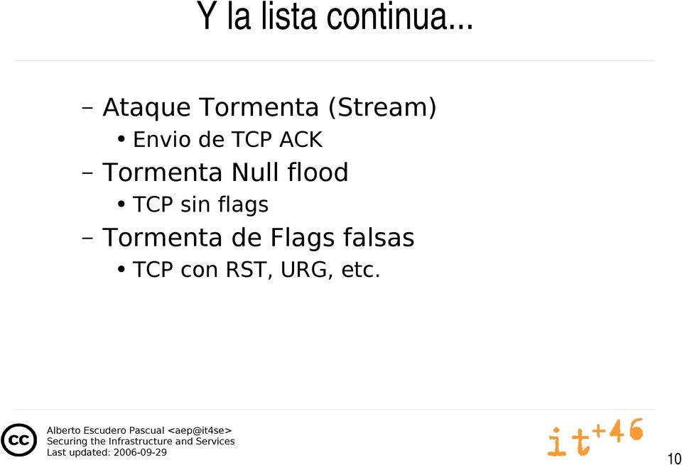 TCP ACK Tormenta Null flood TCP sin