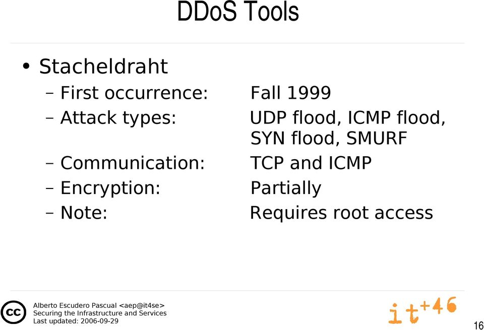 flood, SMURF Communication: TCP and ICMP