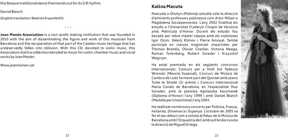part of the Catalan music heritage that has undeservedly fallen into oblivion.