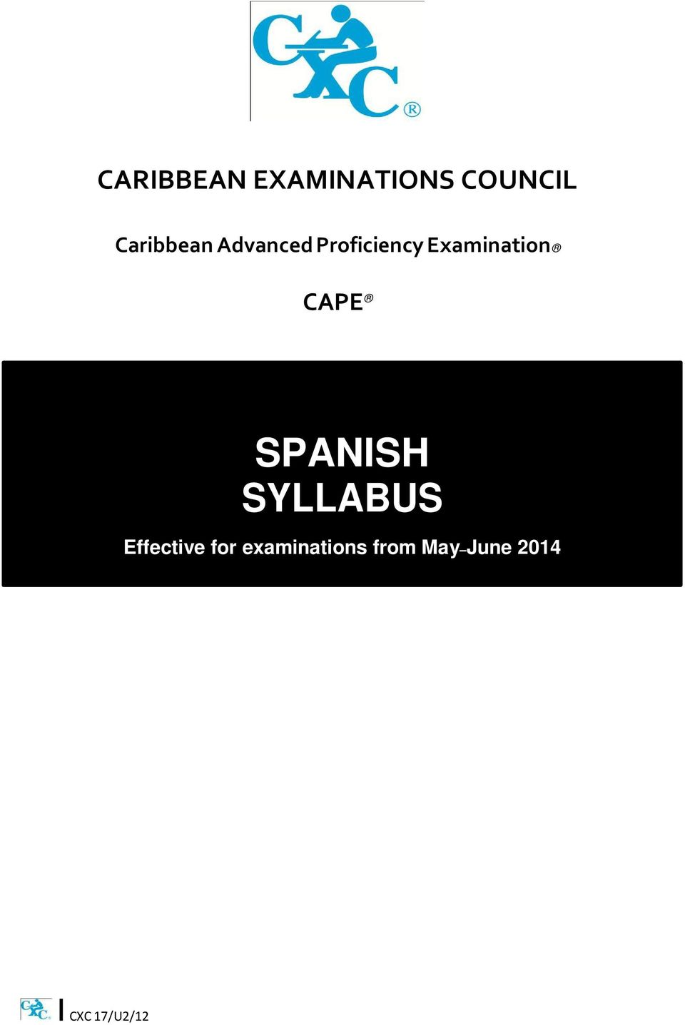 Examination CAPE SPANISH SYLLABUS