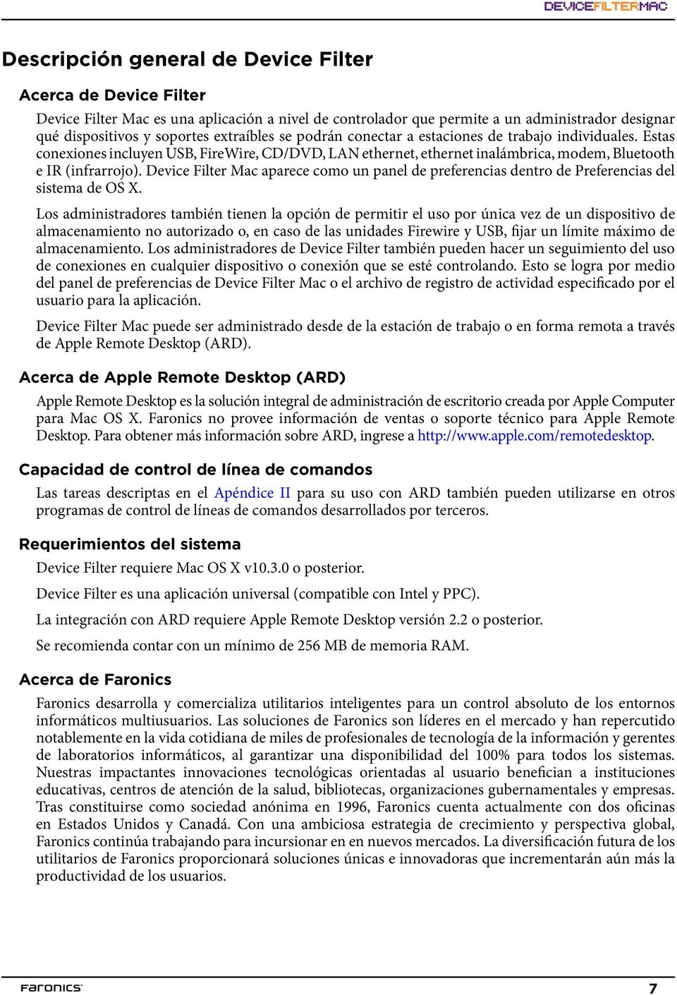 Device Filter Mac aparece como un panel de preferencias dentro de Preferencias del sistema de OS X.