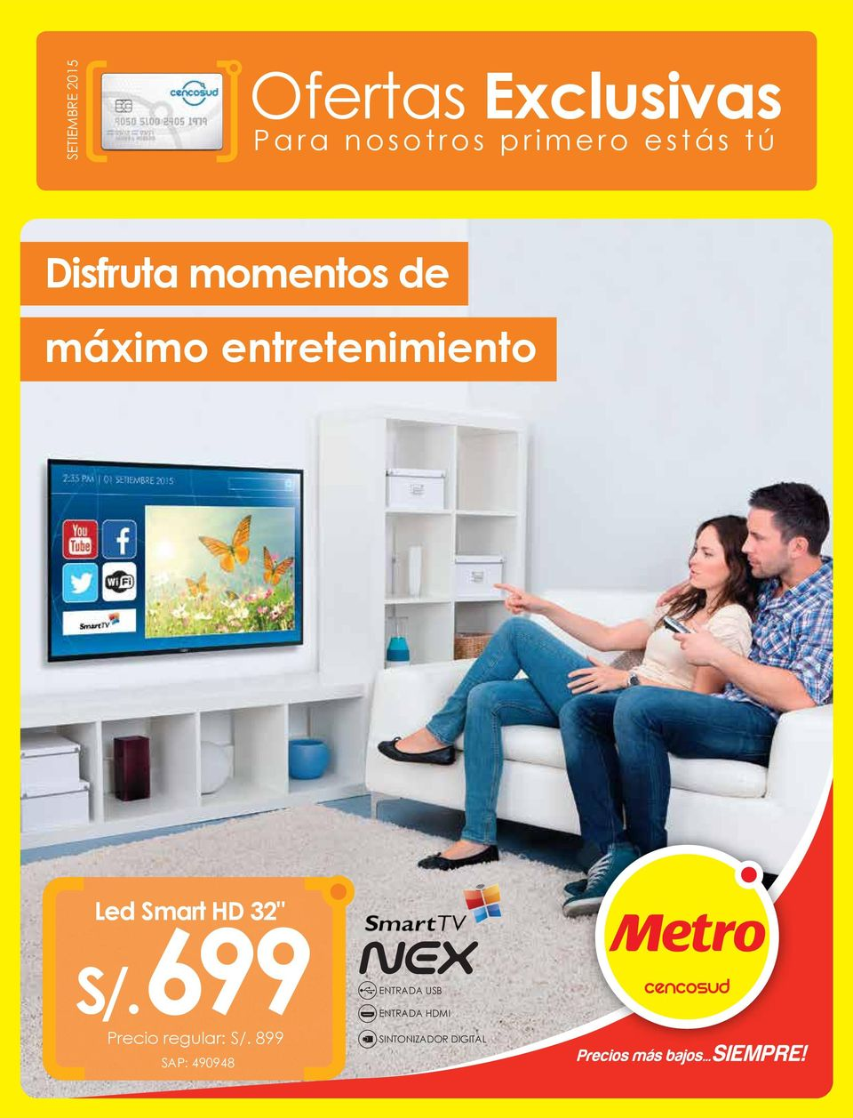 "entretenimiento Led Smart HD 32"" S/."