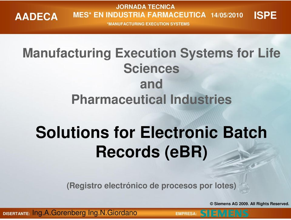 Solutions for Electronic Batch Records