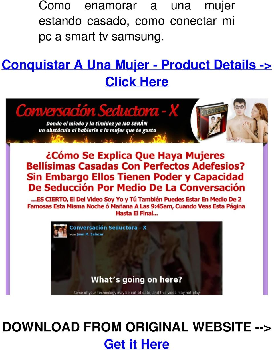 Conquistar A Una Mujer - Product Details ->