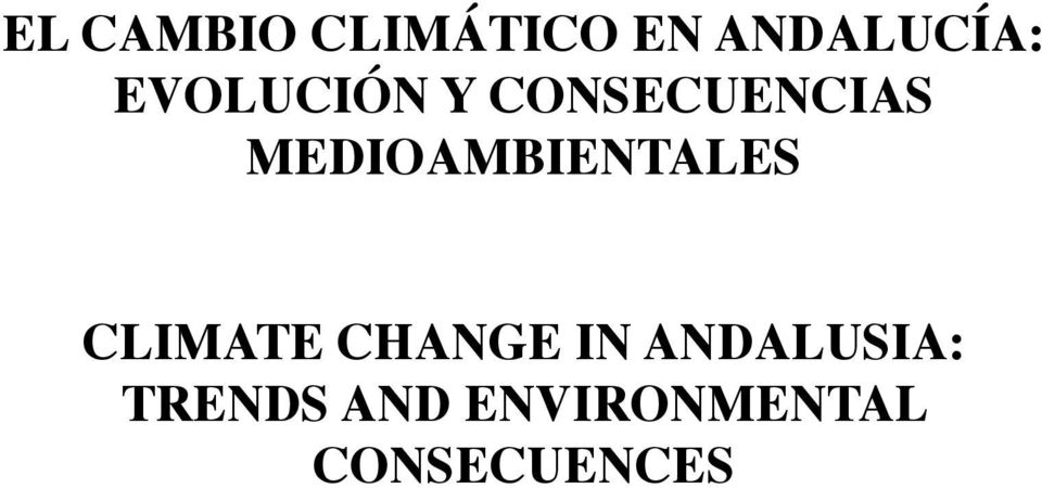 MEDIOAMBIENTALES CLIMATE CHANGE IN