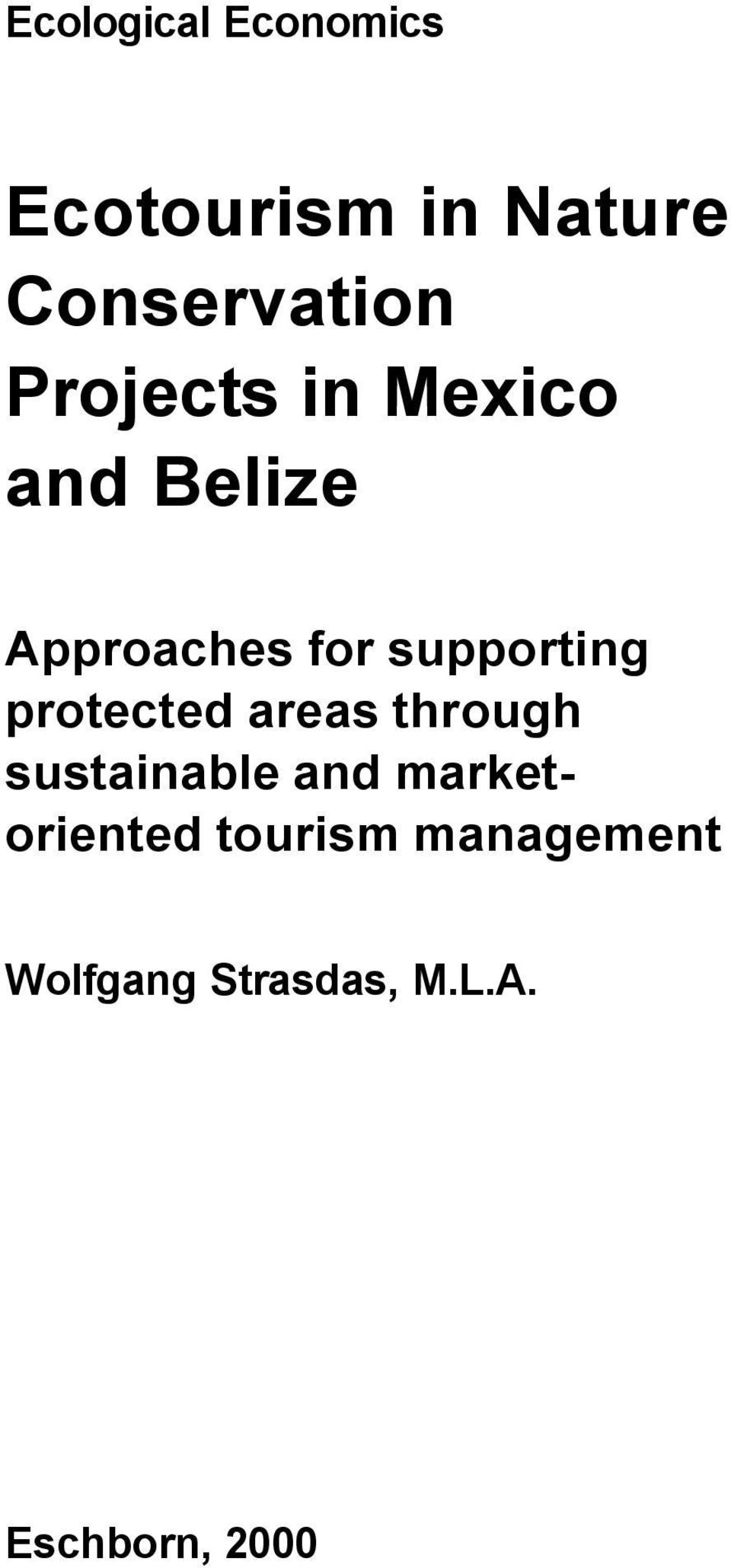 protected areas through sustainable and marketoriented