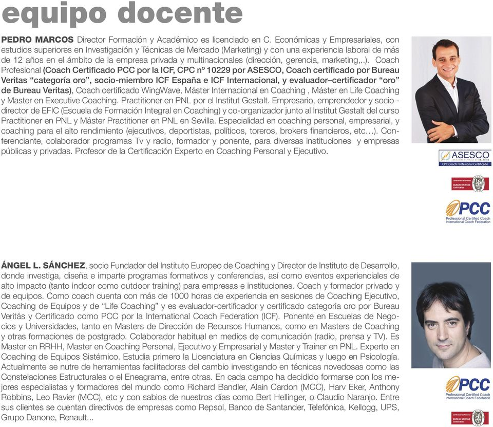 multinacionales (dirección, gerencia, marketing,..).