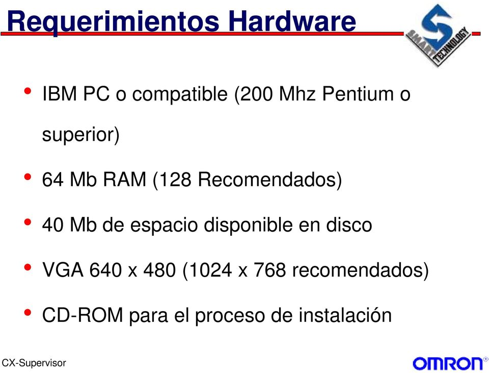 Mb de espacio disponible en disco VGA 640 x 480 (1024