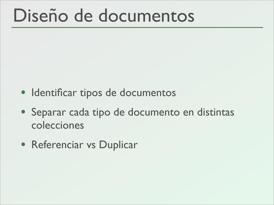 tipo de documento en distintas