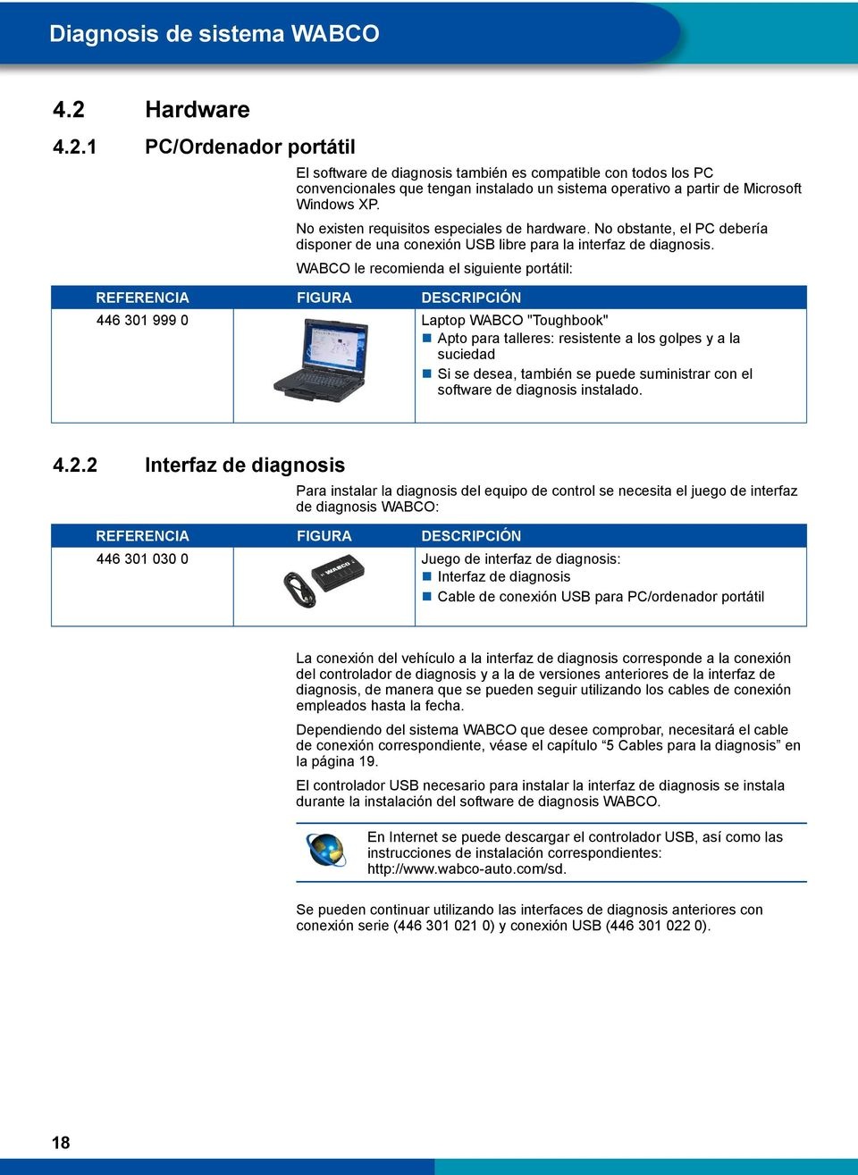 No existen requisitos especiales de hardware. No obstante, el PC debería disponer de una conexión USB libre para la interfaz de diagnosis.