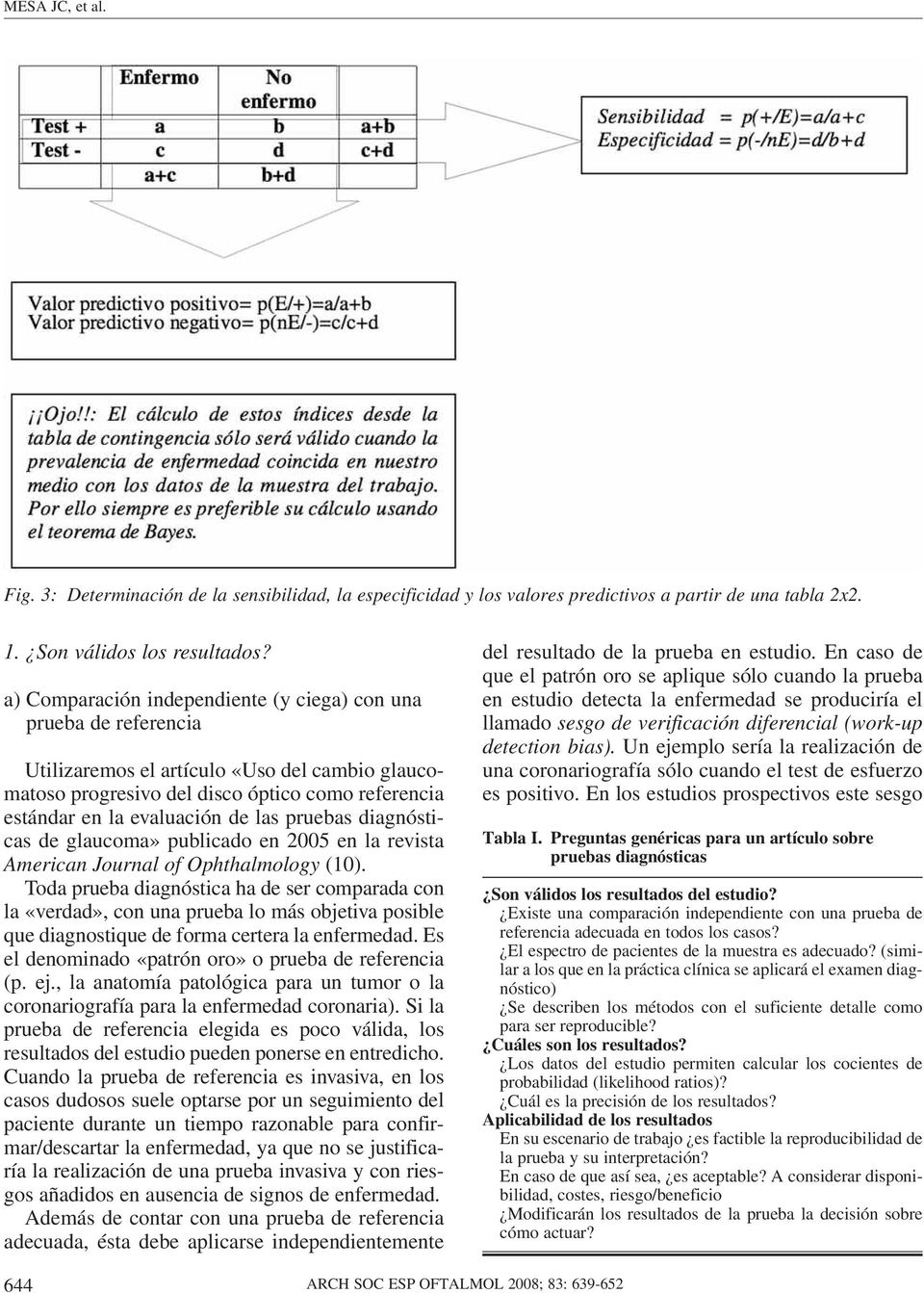 pruebas diagnósticas de glaucoma» publicado en 2005 en la revista American Journal of Ophthalmology (10).