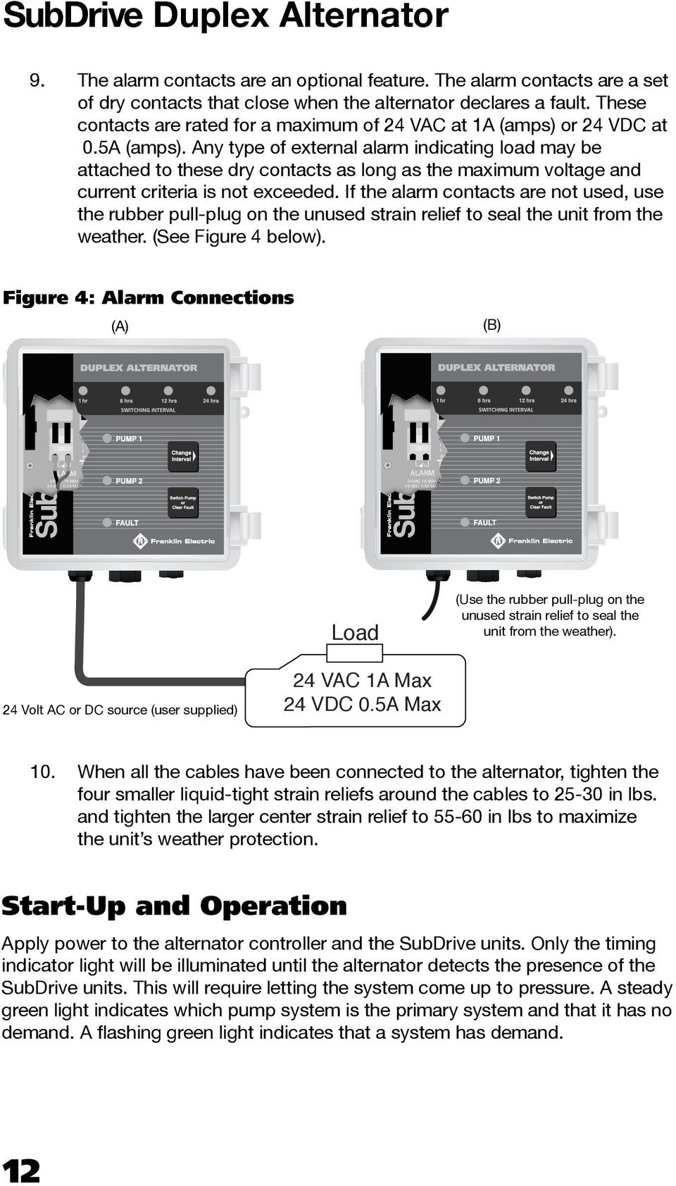 Any type of external alarm indicating load may be attached to these dry contacts as long as the maximum voltage and current criteria is not exceeded.