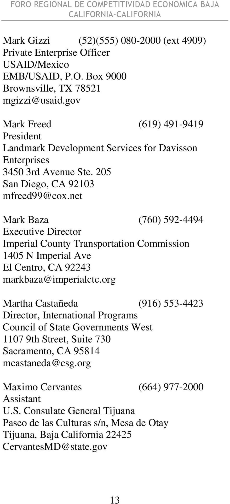 net Mark Baza (760) 592-4494 Imperial County Transportation Commission 1405 N Imperial Ave El Centro, CA 92243 markbaza@imperialctc.