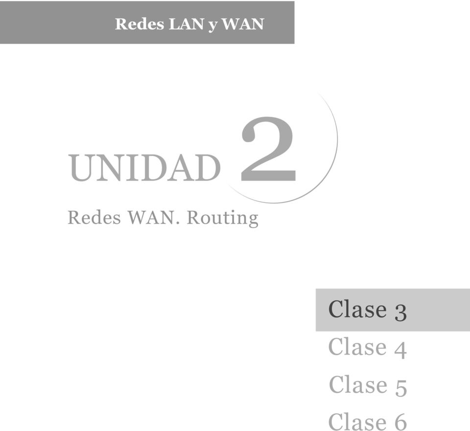 Routing Clase 3