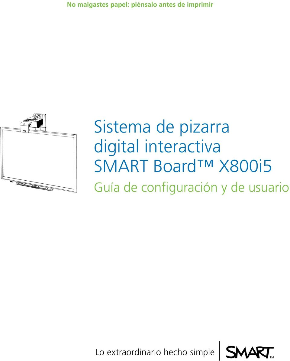 interactiva SMART Board X800i5 Guía de