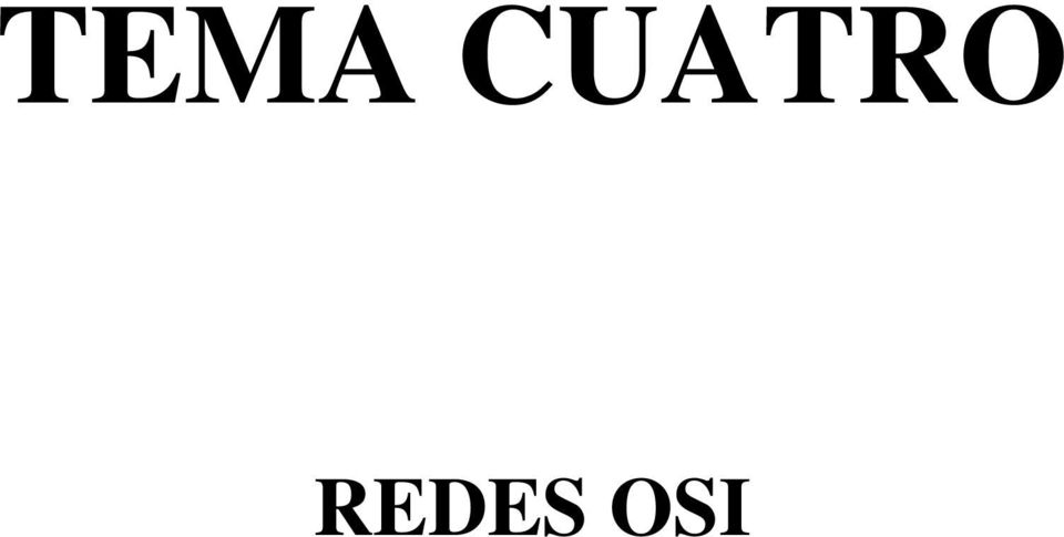 REDES OSI