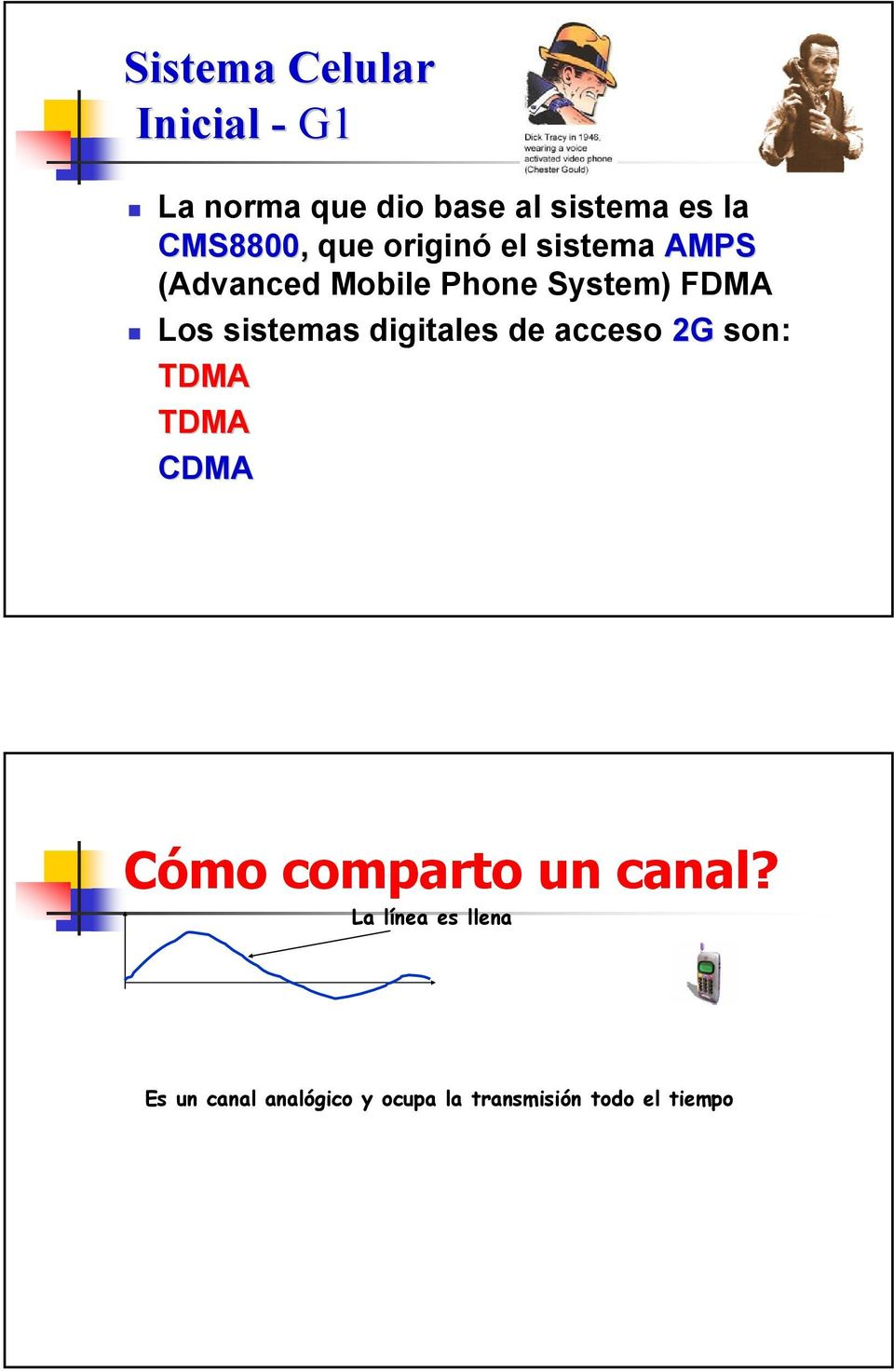 D-AMPSD (Time Division Mpx Acc) TDMA GSM (Global System Mobile) CDMA IS-95 (Code Division Mpx
