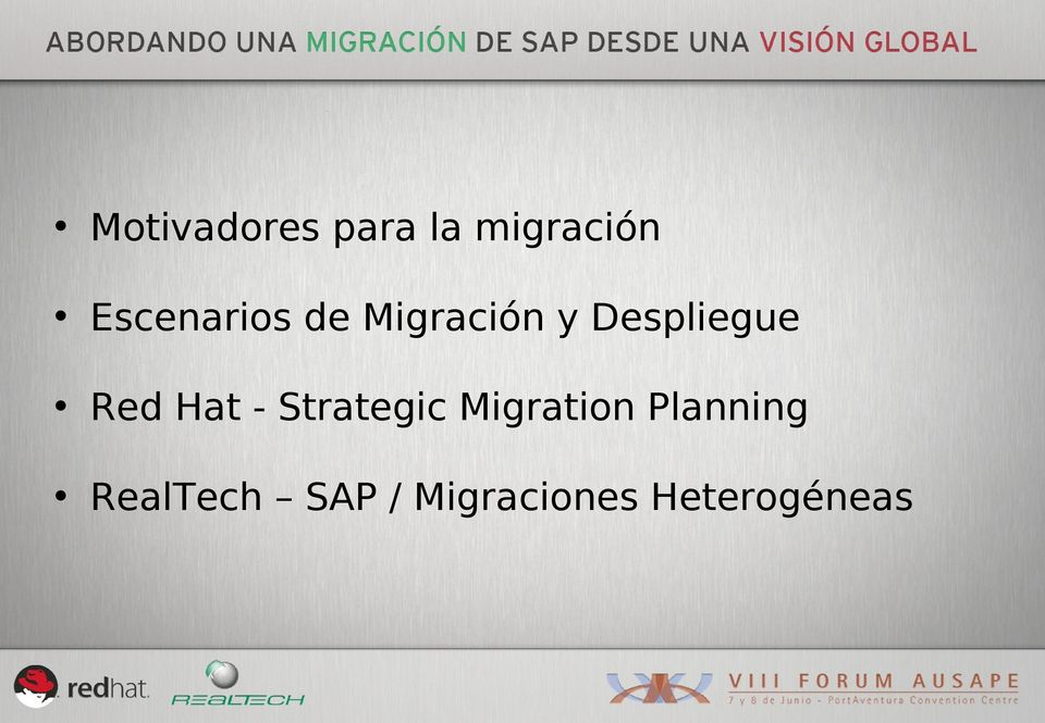 Red Hat - Strategic Migration