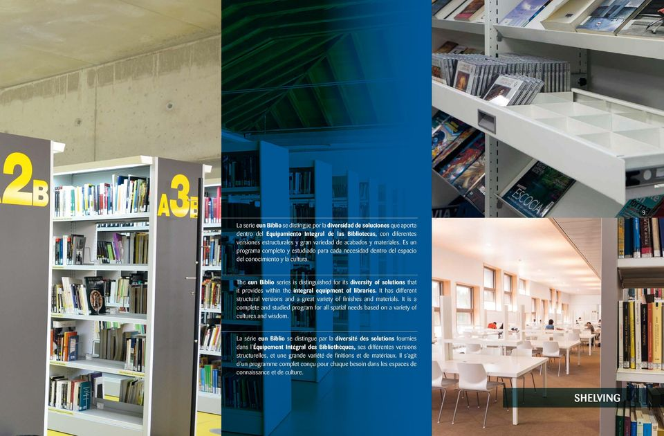 The eun Biblio series is distinguished for its diversity of solutions that it provides within the integral equipment of libraries.