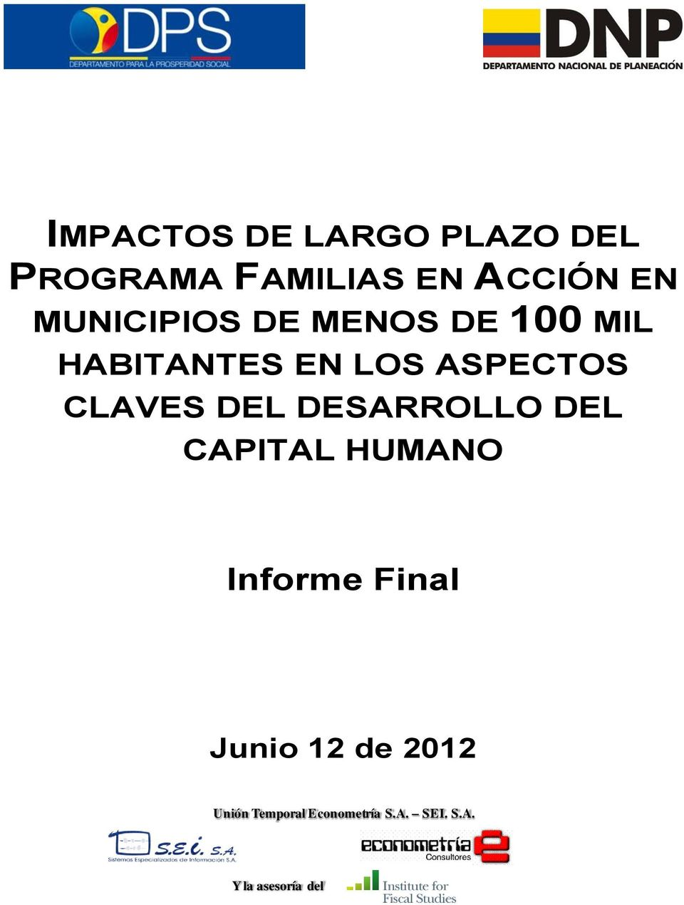 CLAVES DEL DESARROLLO DEL CAPITAL HUMANO Informe Final Junio
