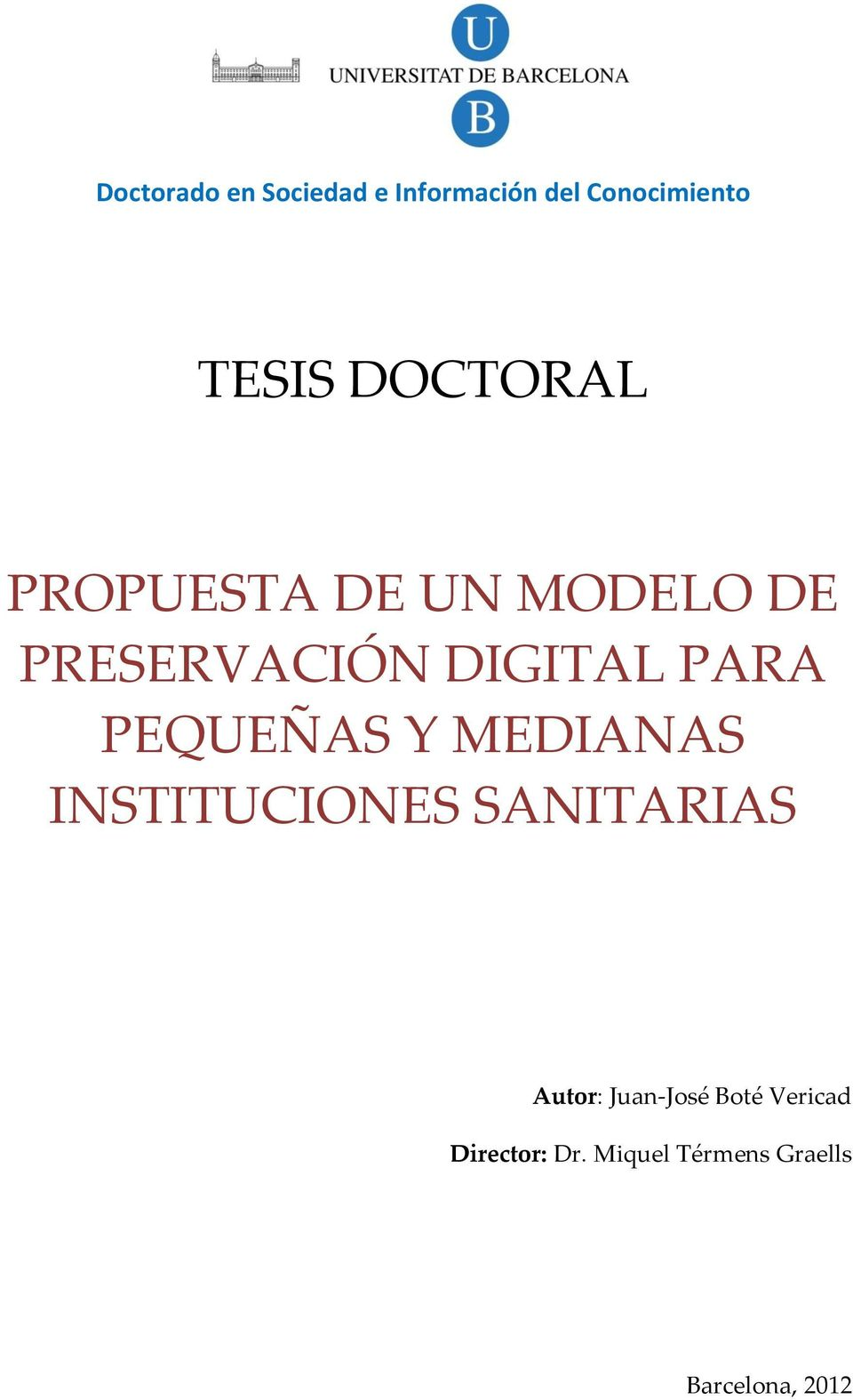 doctoral thesis director