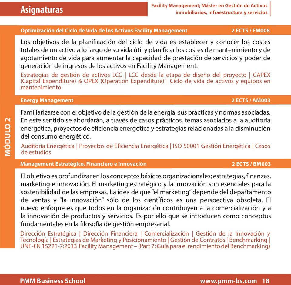 activos en Facility Management.