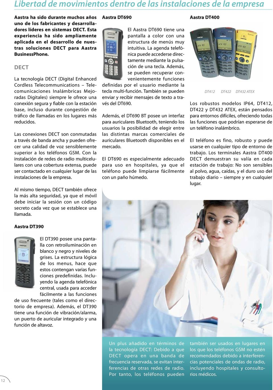 DECT La tecnología DECT (Digital Enhanced Cordless Telecommunications Telecomunicaciones Inalámbricas Mejoradas Digitales) siempre le ofrece una conexión segura y fiable con la estación base, incluso