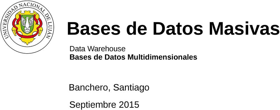 Datos Multidimensionales