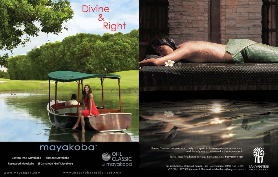 Special rates for advance bookings now available at banyantree.