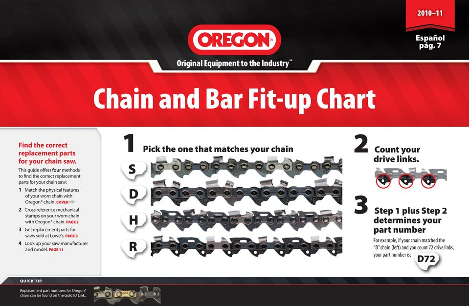 Chain and Bar Fit-up Chart - PDF