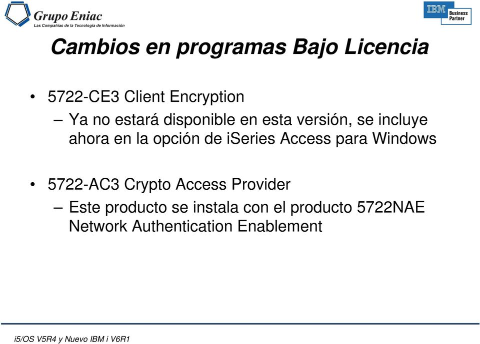 iseries Access para Windows 5722-AC3 Crypto Access Provider Este